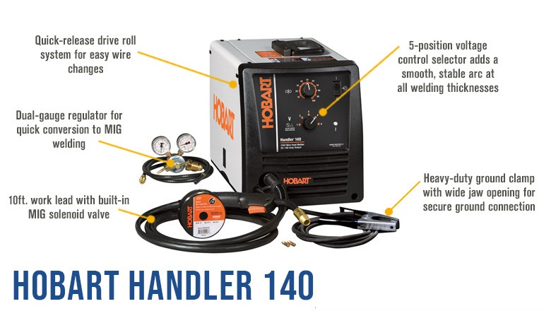 HOW TO SET UP A HOBART HANDLER 140 GAS